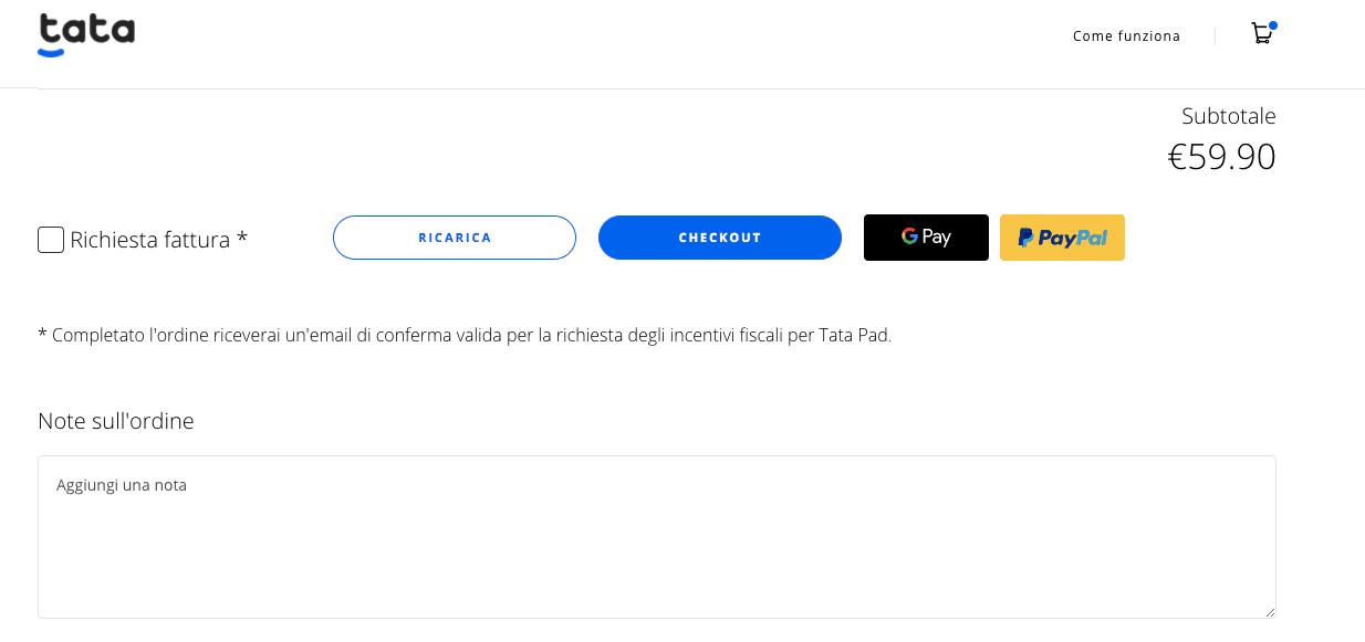 Tata Pad bonus anti abbandono
