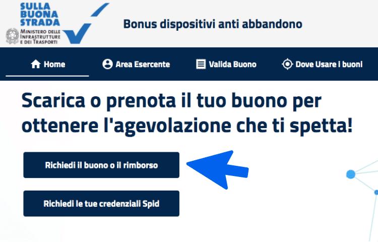 bonuseggiolino.it rimborso antiabbandono